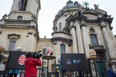 Lviv Ukraina, Marzec, - 29, 2018 Wielkanocny festiwal w Lviv Zdjęcia Royalty Free