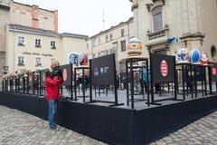 Lviv Ukraina, Marzec, - 29, 2018 Wielkanocny festiwal w Lviv Zdjęcie Royalty Free
