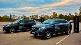Lviv Ukraina, PAŹDZIERNIK, - 15, 2015: Mercedez Benz Obraz Royalty Free