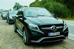 Lviv Ukraina, PAŹDZIERNIK, - 15, 2015: Mercedez Benz Zdjęcie Stock