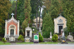 Lviv Ukraina, September, 16, 2013 Lychakiv kyrkogård - det äldst i Lviv Fotografering för Bildbyråer