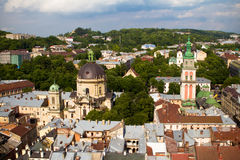Lviv Ukraine. Bird eye view, Lviv Ukraine Stock Photography