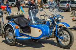 LVIV, UKRAINE - APRIL, 2016: Old fashion vintage motorcycle Royalty Free Stock Photos