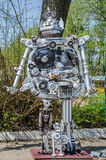 LVIV, UKRAINE - APRIL, 2016: Robots are made from different parts of old cars gathered at the dump Stock Image