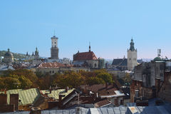 Lviv, Ukraine. Lviv architecture from the roof, Ukraine Stock Images