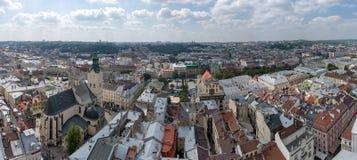 The center of Lviv Stock Image