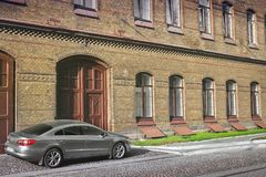 Lviv, Ukraine - August 25, 2018: Private car Volkswagen CC near the building royalty free stock image