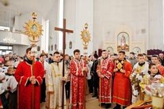 LVIV, UKRAINE - 27 AVRIL 2016 : Passion de semaine sainte et mort de J Images libres de droits