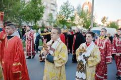 LVIV, UKRAINE - 27 AVRIL 2016 : Passion de semaine sainte et mort de J Image stock
