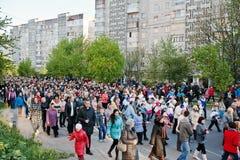 LVIV, UKRAINE - 27 AVRIL 2016 : Passion de semaine sainte et mort de J Photo stock