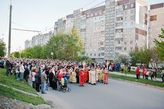 LVIV, UKRAINE - 27 AVRIL 2016 : Passion de semaine sainte et mort de J Photos libres de droits
