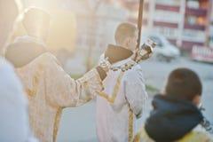 LVIV, UKRAINE - 27 AVRIL 2016 : Passion de semaine sainte et mort de J Image libre de droits