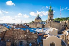 Lviv in Ukraine Royalty Free Stock Photography