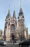 Lviv, Ukraine. Catholic church of St. Olha and Elizabeth. Royalty Free Stock Photography