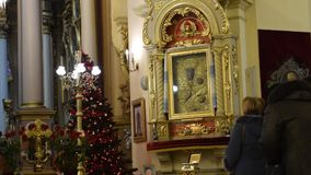 LVIV, UKRAINE: Church office in St. George Cathedral stock video footage