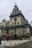 Lviv, Ukraine - January  8, 2011: The Church of St. Andrew (Bern Stock Photo