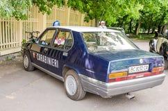 Lviv, Ukraine - juin 2015 : Festival automatique Leopolis Grand prix 2015 Rétro alpha Romeo Carabineri de voiture de vieux vintag image stock