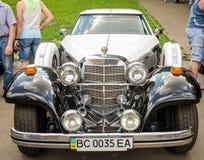Lviv, Ukraine - June 2015: Auto festival Leopolis grand prix 2015. Old vintage retro car Royalty Free Stock Images