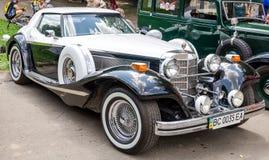 Lviv, Ukraine - June 2015: Auto festival Leopolis grand prix 2015. Old vintage retro car Stock Images