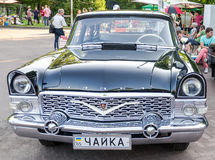 Lviv, Ukraine - June 2015: Auto festival Leopolis grand prix 2015. Old vintage retro car Chayka Royalty Free Stock Photography