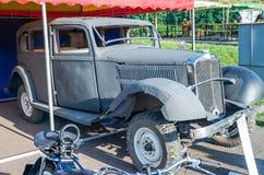 Lviv, Ukraine - June 2015: Auto festival Leopolis grand prix 2015. Old vintage retro car Mercedes Royalty Free Stock Images