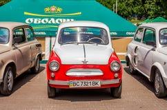 Lviv, Ukraine - June 2015: Auto festival Leopolis grand prix 2015. Old vintage retro car ZAZ Royalty Free Stock Photos
