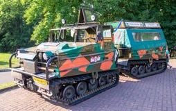 Lviv, Ukraine - June 2015: Auto festival Leopolis grand prix 2015. Old vintage retro military car Volvo Royalty Free Stock Photography