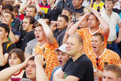 LVIV, UKRAINE - JUNE 9, 2012:  football fans Euro-2012 Royalty Free Stock Photos
