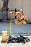 LVIV, UKRAINE - JUNE 07 2013: levitating street mime artist Royalty Free Stock Photo