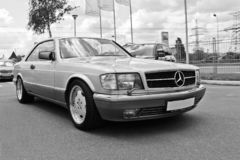 Lviv, Ukraine. May 25, 2011. Mercedes S-Class Coupe royalty free stock photography