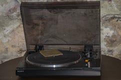 LVIV, UKRAINE - MAY 2017: Old vintage retro vinyl record player royalty free stock images