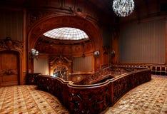 LVIV, UKRAINE - 16 novembre 2015 : Chambre des scientifiques - un ancien casino national 16 novembre 2015 Lviv, Ukraine Photos stock
