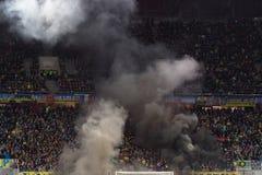 LVIV, UKRAINE - NOWEMBER 14: Terrorists fans Royalty Free Stock Photography
