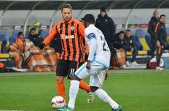 LVIV, UKRAINE - 20 OCTOBRE : Marlos (l) dans l'action pendant l'EUR de l'UEFA Photographie stock