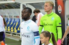 LVIV, UKRAINE - 20 OCTOBRE : Nana Asare dans l'action pendant l'EUR de l'UEFA Images libres de droits