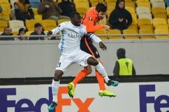 LVIV, UKRAINE - 20 OCTOBRE : Nana Asare dans l'action pendant l'EUR de l'UEFA Image stock