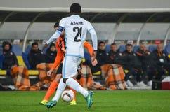 LVIV, UKRAINE - 20 OCTOBRE : Nana Asare dans l'action pendant l'EUR de l'UEFA Photo stock