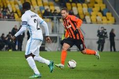 LVIV, UKRAINE - 20 OCTOBRE : Nana Asare dans l'action pendant l'EUR de l'UEFA Photos stock