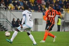 LVIV, UKRAINE - 20 OCTOBRE : Nana Asare dans l'action pendant l'EUR de l'UEFA Images stock