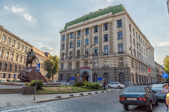 LVIV, UKRAINE - SEPTEMBER 12, 2016: Lviv City and Police Ministry Building Royalty Free Stock Images