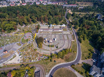 LVIV, UKRAINE - SEPTEMBER 11, 2016: Lviv Lychakiv Cemetery and Polish Orlat Cemetery. Stock Photography