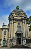 LVIV, UKRAINE - September 27, 2015: The main facade of Dominican Royalty Free Stock Photo