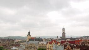 Lviv Ukraine. time lapse clouds stock video footage