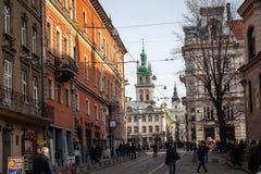 Lviv unieke architectuur Stock Fotografie