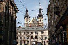 Lviv unieke architectuur Stock Afbeelding