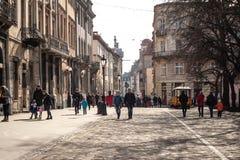 Lviv unieke architectuur Stock Afbeeldingen