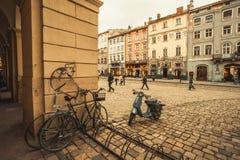 Lviv velho, Ucrânia Imagens de Stock Royalty Free