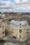 Lviv. View of Lviv from the belfry of the Church of Saint Elisabeth Royalty Free Stock Image
