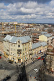 Lviv. View of Lviv from the belfry of the Church of Saint Elisabeth Stock Photos