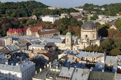 Lviv. view from the town hall Stock Image